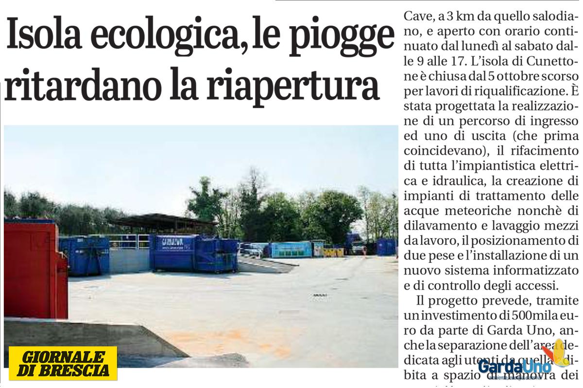Isola Ecologica San Felice Sul Panaro salo' - isola ecologica, le piogge ritardano la riapertura