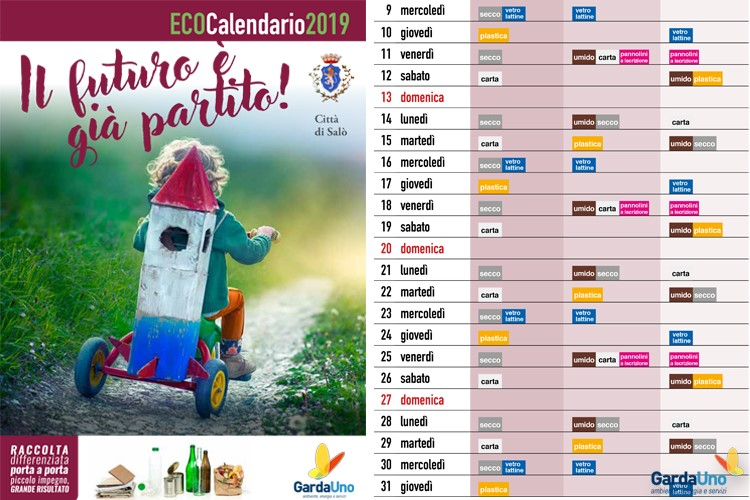 Igiene Urbana: Eco Calendari 2019 disponibili per il download